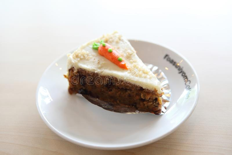 Wortelcake, Dessert stock fotografie