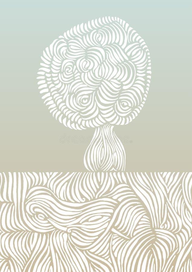 Wortels & boom vectorillustratie stock illustratie