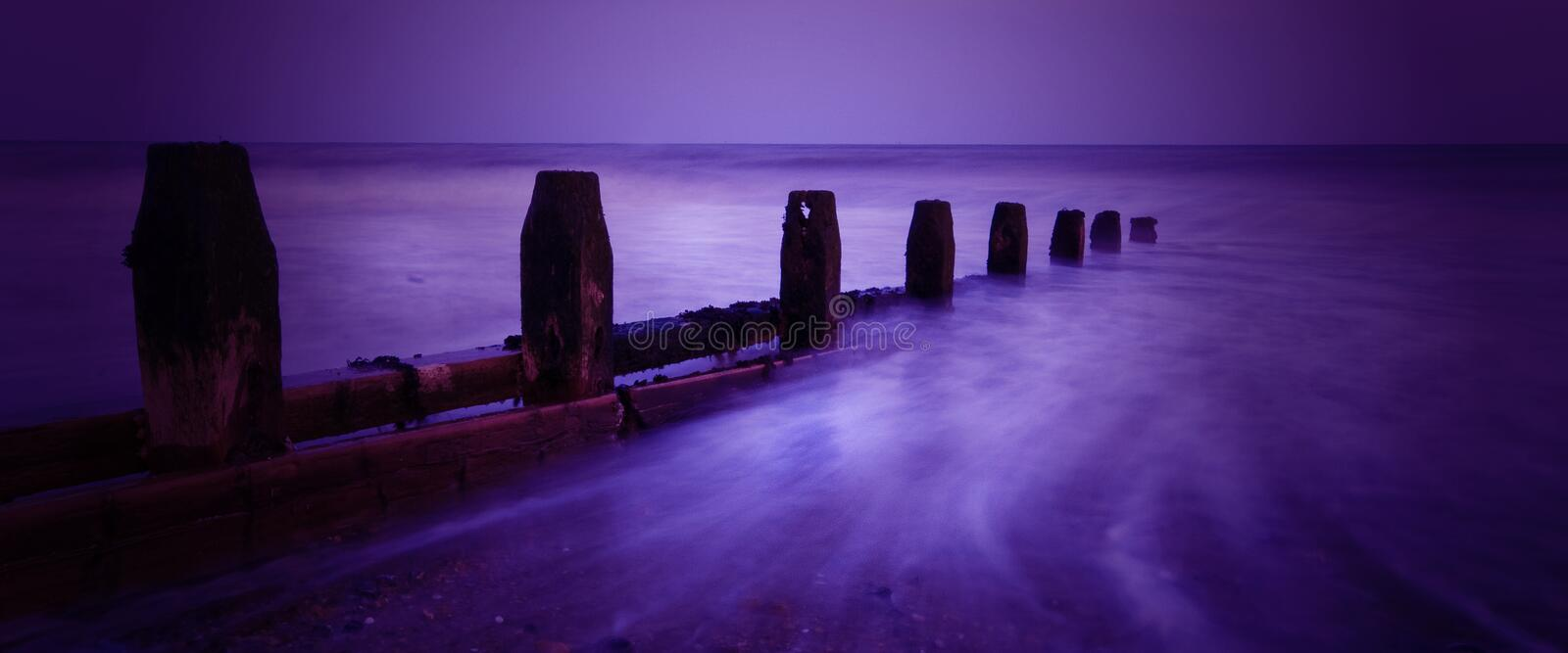 Download Worthing Beach stock image. Image of groin, purple, waves - 4988165
