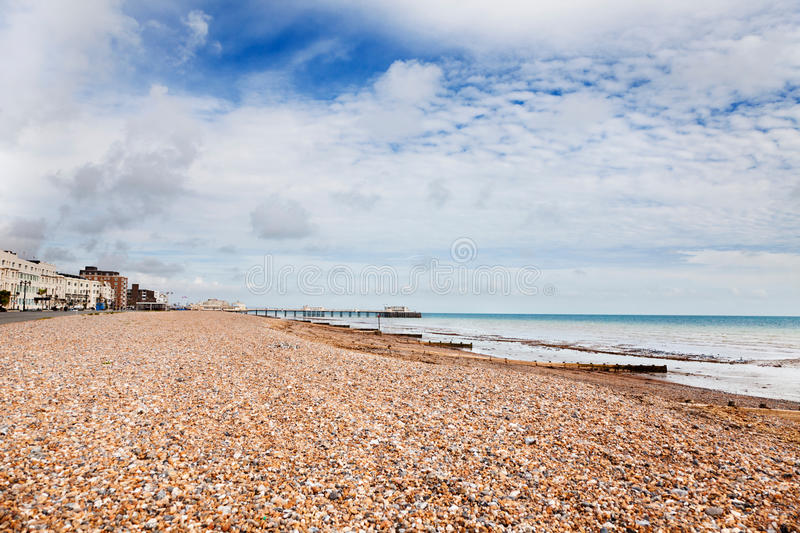 Download Worthing pier at low tide stock image. Image of tide - 21422379