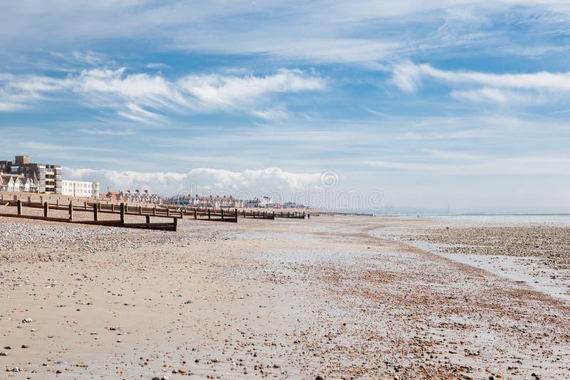 Worthingsstrand, West-Sussex, het Verenigd Koninkrijk royalty-vrije stock afbeelding