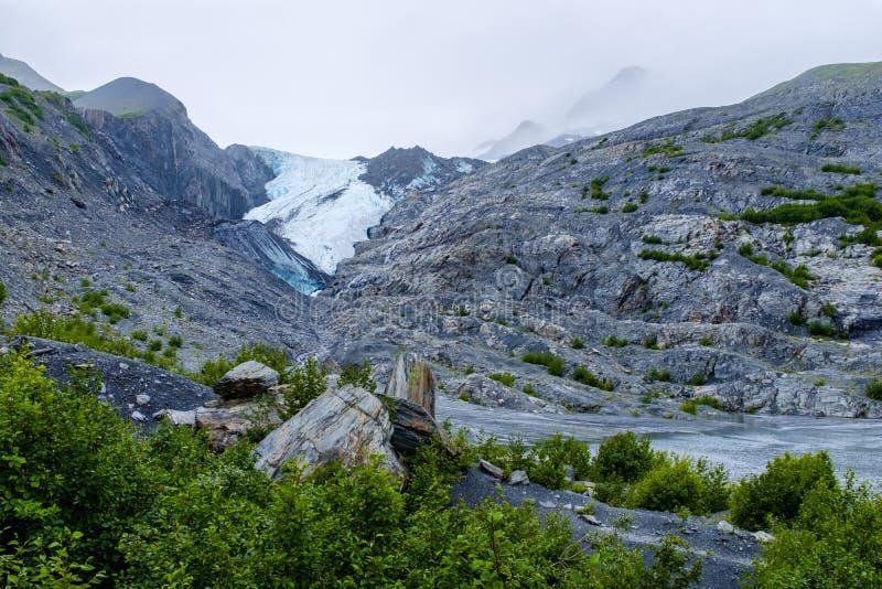Worthington Glacier in rural Alaska, USA stock image