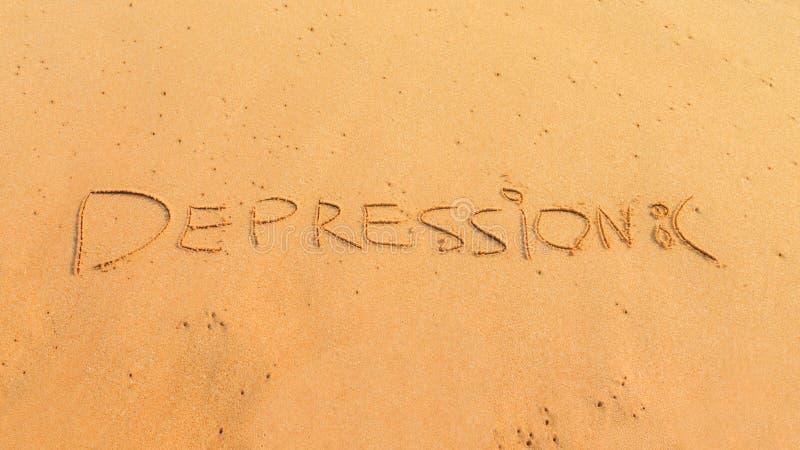 Wortkrise auf dem Sand lizenzfreie stockfotografie