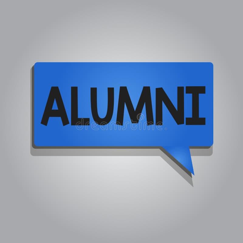 Wortschreibens-Text Absolventen Geschäftskonzept für ehemaligen Schüler oder Studenten besonders männliches von der bestimmten Sc stock abbildung