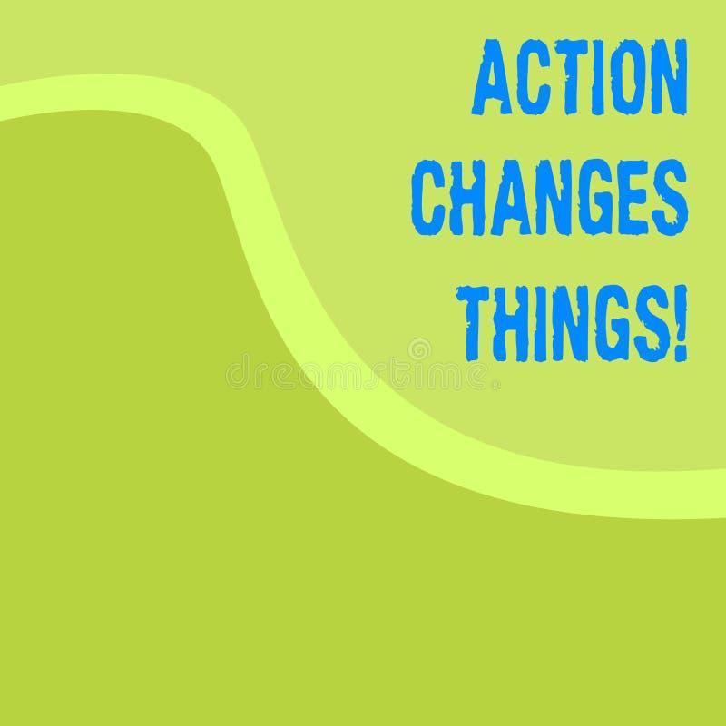 Wortschreibens-Text Aktion ändert Sachen Geschäftskonzept für, sich zu verbessern stehen nicht noch ließ s ist, es zu tun lizenzfreie abbildung