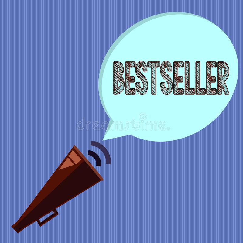 Wortschreibens-Text Bestseller Geschäftskonzept für Buchprodukt verkaufte in der erfolgreichen Literatur der großen Zahlen vektor abbildung