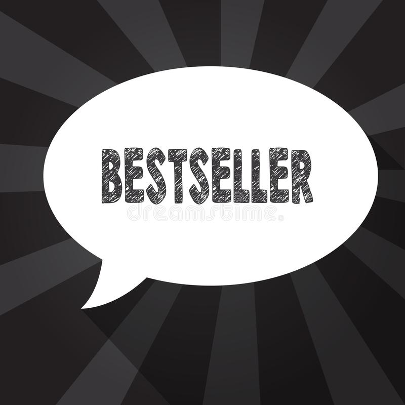 Wortschreibens-Text Bestseller Geschäftskonzept für Buchprodukt verkaufte in der erfolgreichen Literatur der großen Zahlen lizenzfreie abbildung