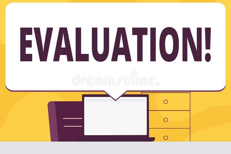 Wortschreibens-Text Bewertung Geschäftskonzept für Urteil-Feedback werten das Qualität perforanalysisce von etwas aus vektor abbildung