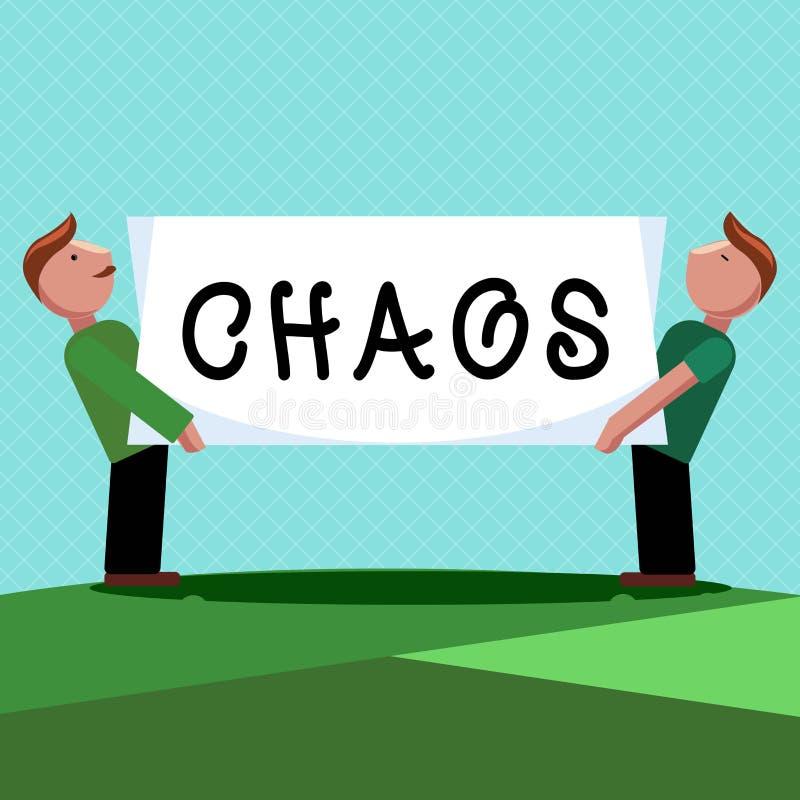 Wortschreibens-Text Chaos Geschäftskonzept für weit verbreitete Zerstörung der kompletten Störung und der großen Verwirrung lizenzfreie abbildung