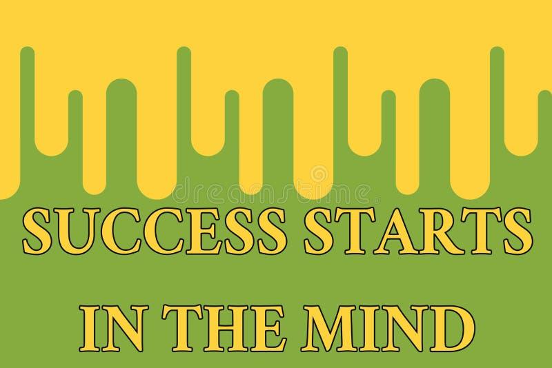 Wortschreibens-Text Erfolg beginnt im Verstand Geschäftskonzept für Satz Ihr Verstand zur Bestimmtheit kann es gehen ein langer W lizenzfreie abbildung