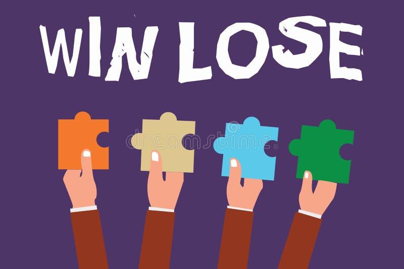 Wortschreibens-Text Gewinn verlieren Geschäftskonzept für Compare Möglichkeiten was, wenn alles gut oder falsch geht lizenzfreie abbildung