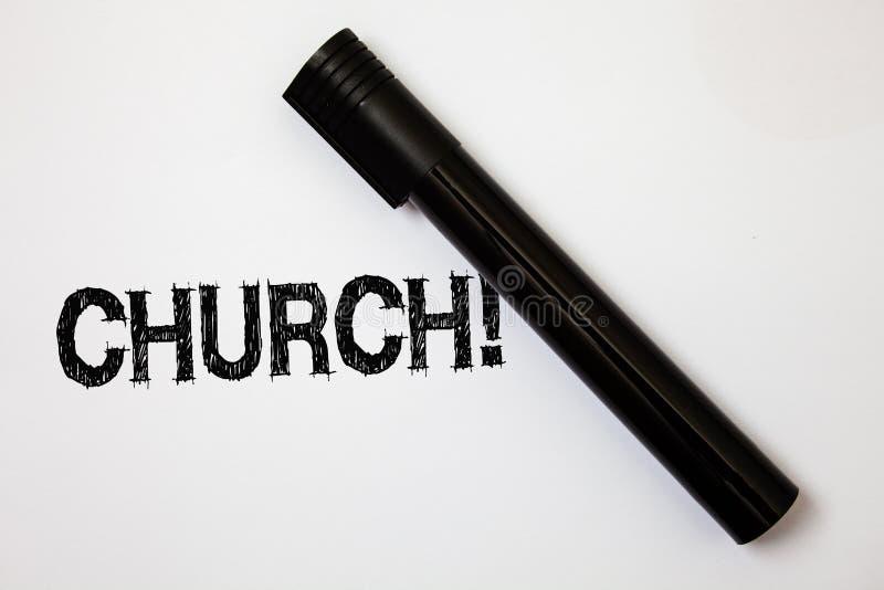 Wortschreibens-Text Kirche Geschäftskonzept für Kathedralen-Altar-Turm-Kapellen-Moscheen-Schongebiet-Schrein-Synagoge-Tempel-Idee lizenzfreie stockfotografie