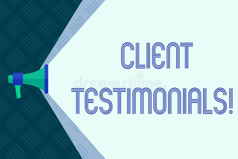 Wortschreibens-Text Kundenmeinungen Geschäftskonzept für Kunden-persönliches Erfahrungs-Bericht-Meinungs-Feedback stock abbildung