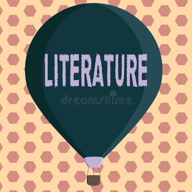 Wortschreibens-Text Literatur Geschäftskonzept für schriftliche Übungsteilschreiben veröffentlichte auf einem bestimmten Thema vektor abbildung