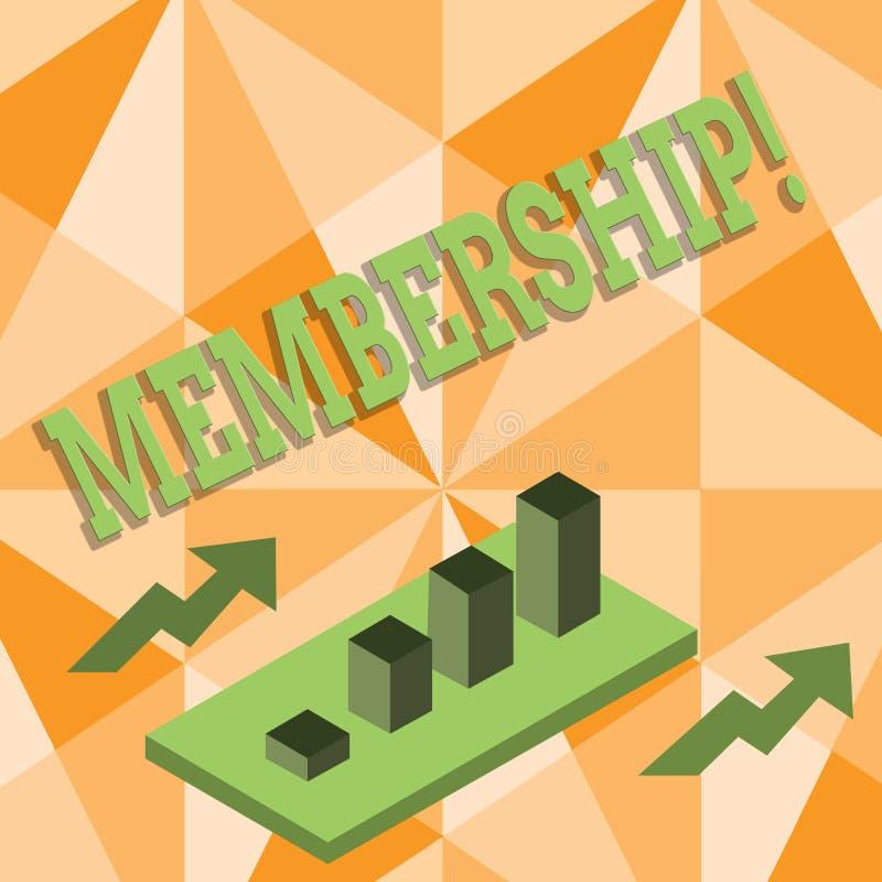 Wortschreibens-Text Mitgliedschaft Geschäftskonzept für Sein Mitgliedsteil einer Gruppe oder Team schließen sich Organisationsfir lizenzfreie abbildung