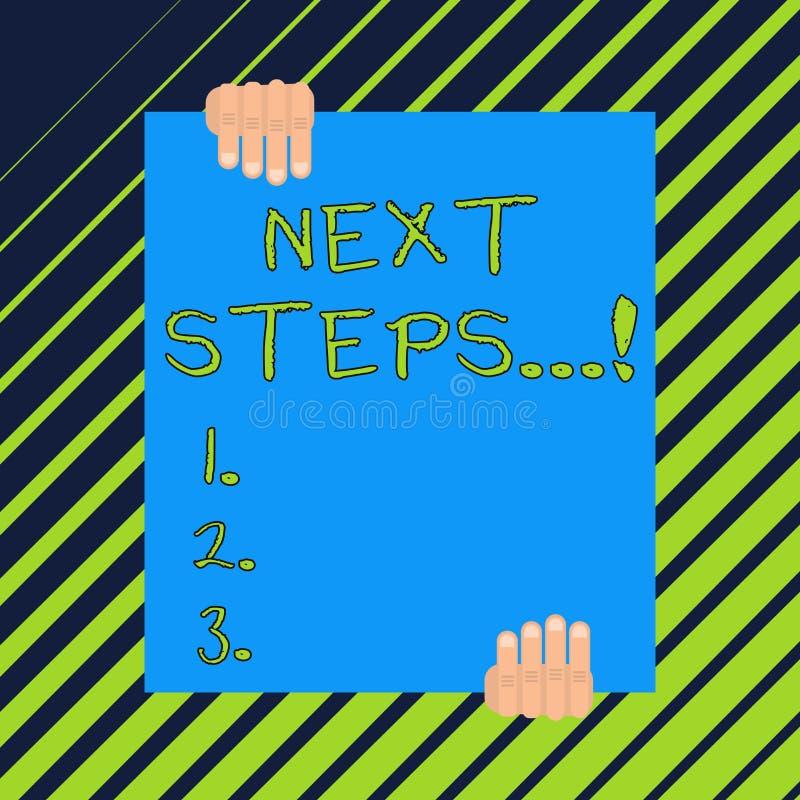 Wortschreibens-Text n?chste Schritte E stock abbildung