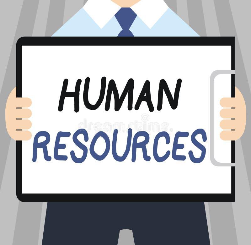 Wortschreibens-Text Personalwesen Geschäftskonzept für die Leute, die die Arbeitskräfte einer Organisation bilden stock abbildung