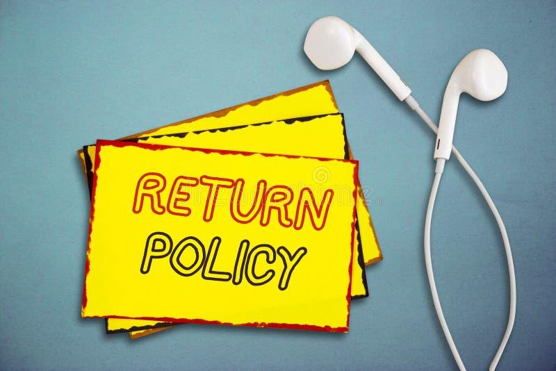 Wortschreibens-Text Rückgaberecht Geschäftskonzept für Steuer-Vergütungs-Einzelhandels-allgemeine Geschäftsbedingungen auf Kauf stockfotos