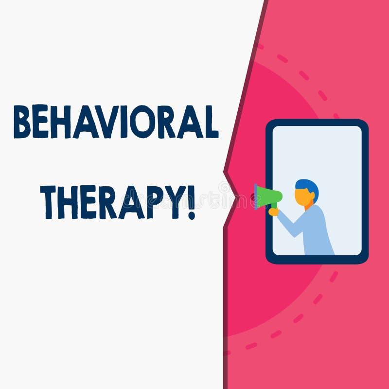 Wortschreibens-Text Verhaltenstherapie Gesch?ftskonzept f?r Hilfe, m?glicherweise selfdestructive Verhalten Mann zu ?ndern steht lizenzfreie abbildung