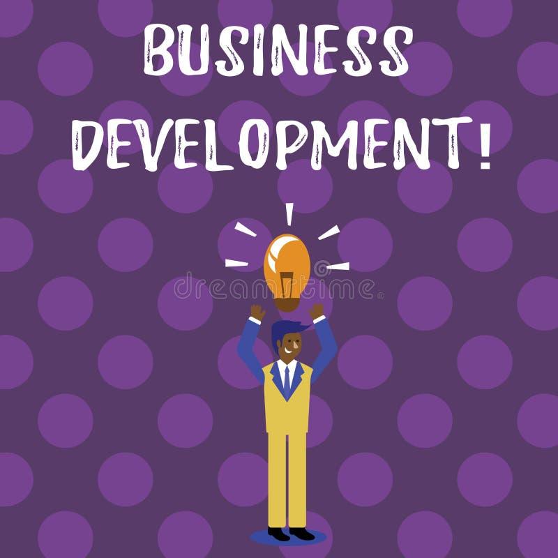 Wortschreibens-Text wirtschaftliche Entwicklung Geschäftskonzept für Develop und führen Organisations-Wachstums-Gelegenheiten ein stock abbildung