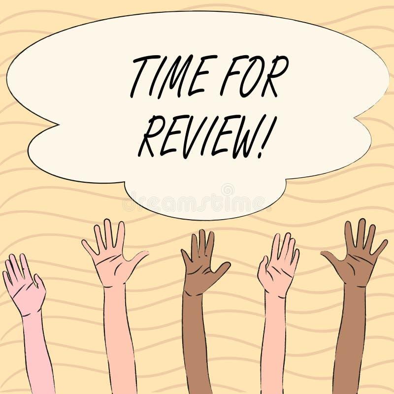 Wortschreibens-Text Zeit für Bericht Geschäftskonzept für Bewertungs-Feedback-Moment Perforanalysisce Rate Assess stock abbildung