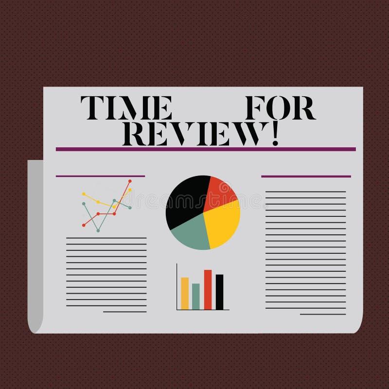Wortschreibens-Text Zeit für Bericht Geschäftskonzept für das Geben des Feedback-Bewertungs-Ratenjobtests oder Produkt qualifizie lizenzfreie abbildung