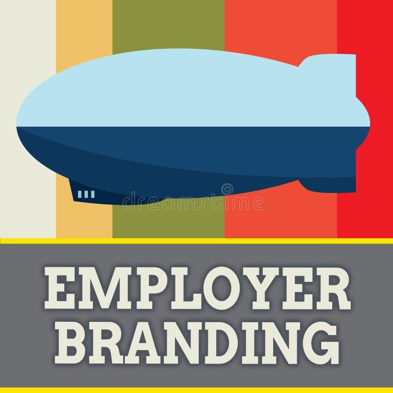 Wortschreibenstext Arbeitgeber-Branding Geschäftskonzept für Prozess der Förderung eines Firmagebäude-Ansehens vektor abbildung