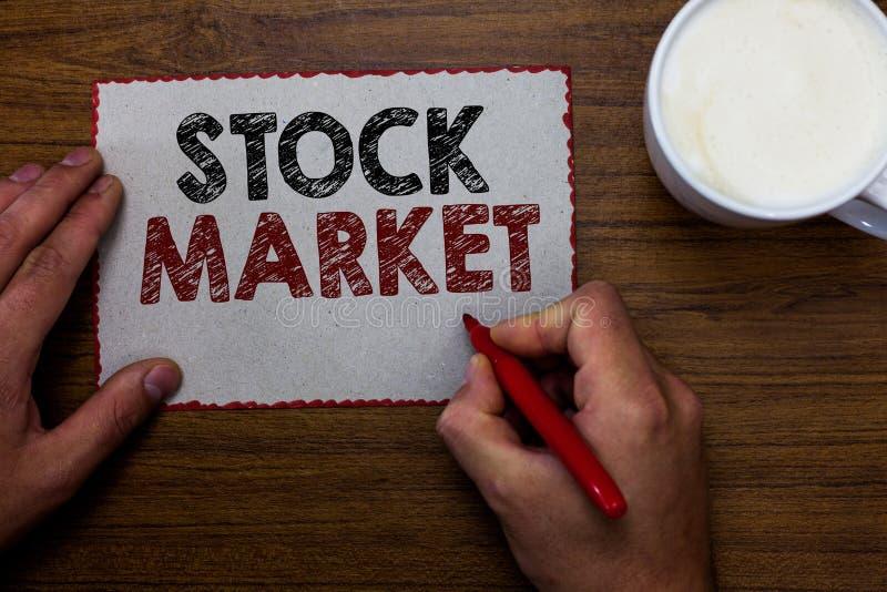 Wortschreibenstext Börse Geschäftskonzept für bestimmten Markt, in dem Aktien und Obligationen gehandelt oder den Mann austausche stockfotografie