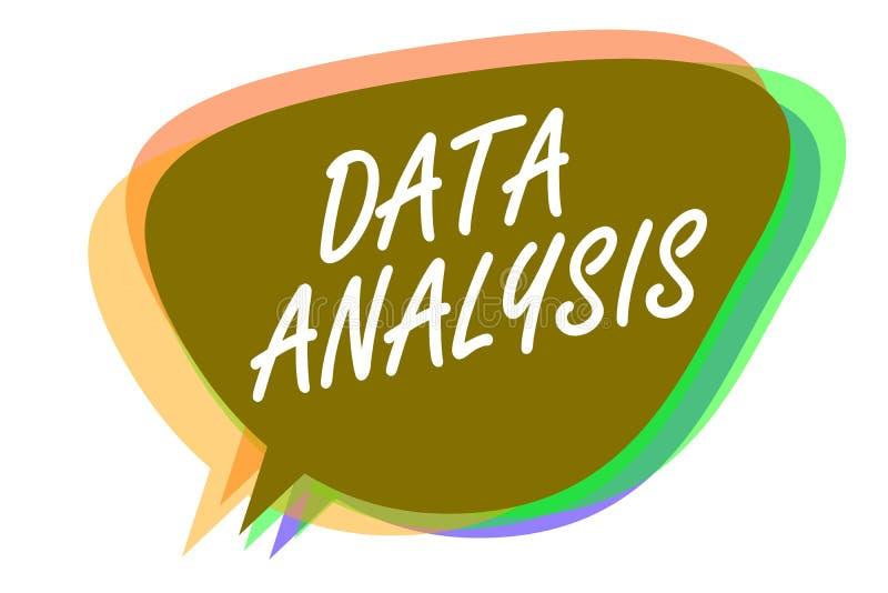 Wortschreibenstext Datenanalyse Geschäftskonzept für Translate nummeriert zur analytischen Schlussfolgerungs-Voraussagen-Spracheb vektor abbildung