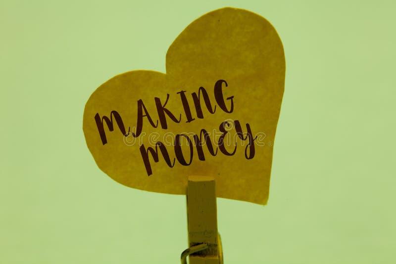 Wortschreibenstext, der Geld verdient Geschäftskonzept für das Geben der Gelegenheit, einen Gewinn zu erzielen, finanzielle Unter lizenzfreie stockfotografie