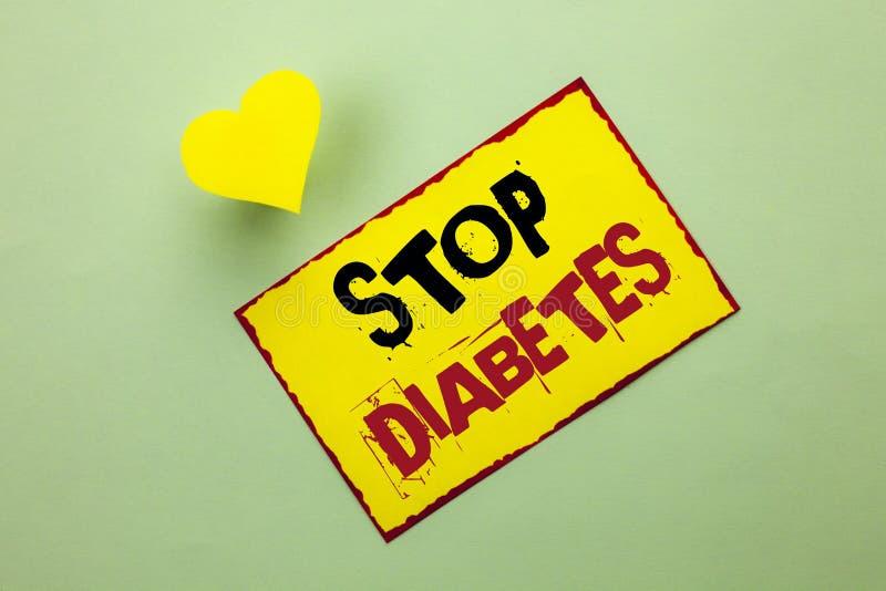 Wortschreibenstext Enddiabetes Geschäftskonzept für kümmern sich um Ihren Sugar Levels Healthy Diet Nutritions-Gewohnheiten, die  stockfotos