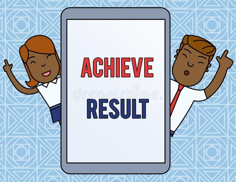 Wortschreibenstext erzielen Ergebnis Geschäftskonzept für Durchführung erreichen, des erfolgeichen Abschlusses zu holen einem Man vektor abbildung
