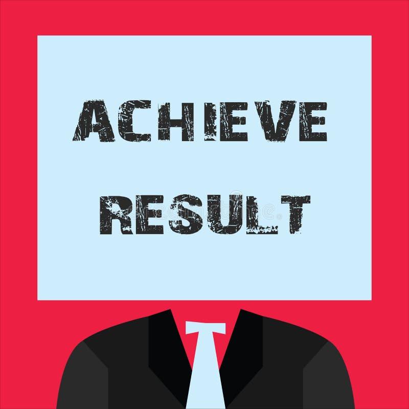 Wortschreibenstext erzielen Ergebnis Geschäftskonzept für Receive erfolgreiches Ergebnis von der harten Arbeit machen Sie glückli stock abbildung