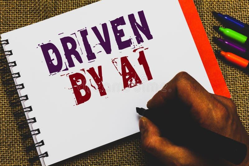 Wortschreibenstext gefahren durch A1 Geschäftskonzept für Bewegung oder durch einen hochwertigen Fahrer in der Gesellschaft Mannh stockbilder