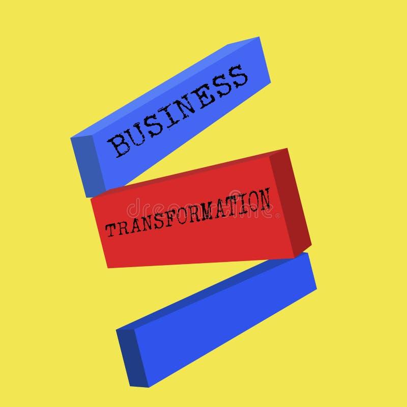 Wortschreibenstext Geschäfts-Umwandlung Geschäftskonzept für Align, die ihr Handel mit Strategie-Verbesserung modelliert stock abbildung