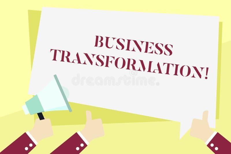 Wortschreibenstext Gesch?fts-Umwandlung Geschäftskonzept für Align ihre Geschäftsmodelle mit der Strategie-Verbesserungs-Hand vektor abbildung