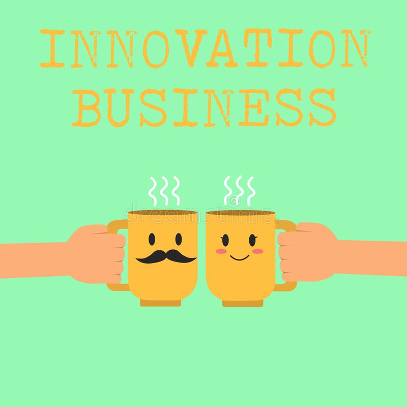 Wortschreibenstext Innovations-Geschäft Geschäftskonzept für Introduce neue Ideen-Arbeitsfluss-Methodologie-Dienstleistungen vektor abbildung