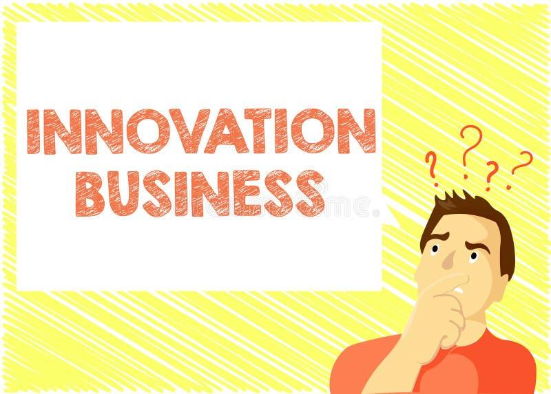 Wortschreibenstext Innovations-Geschäft Geschäftskonzept für Introduce neue Ideen-Arbeitsfluss-Methodologie-Dienstleistungen lizenzfreie abbildung