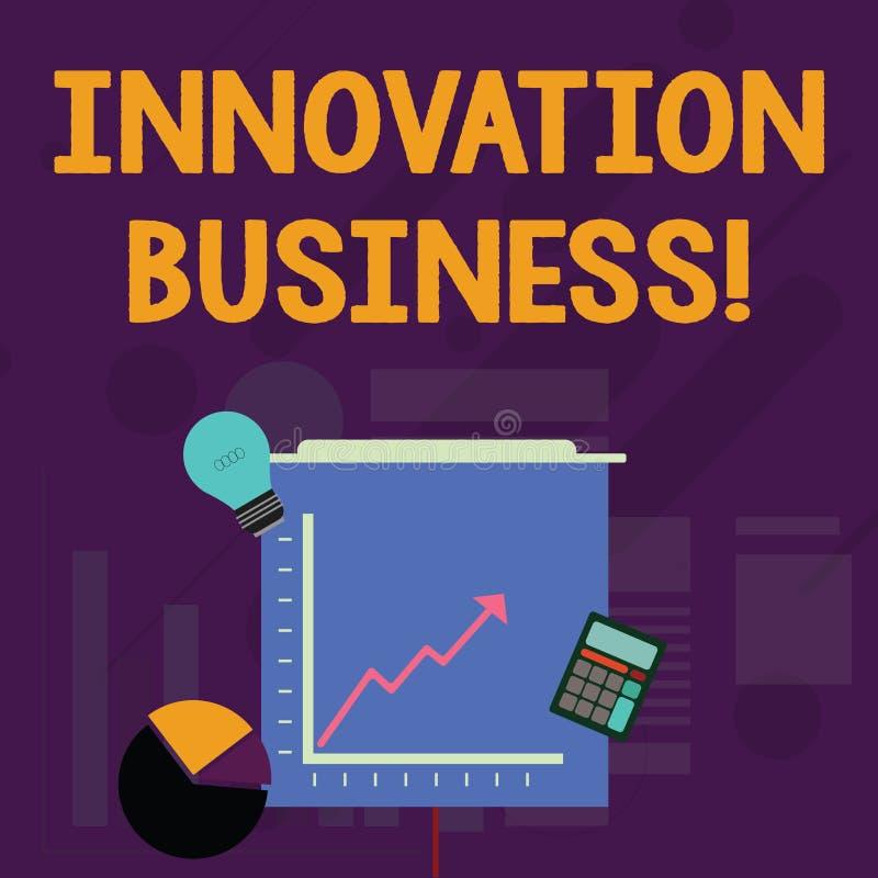 Wortschreibenstext Innovations-Gesch?ft Gesch?ftskonzept f?r Introduce neue Ideen-Arbeitsfluss-Methodologie-Dienstleistungen stock abbildung
