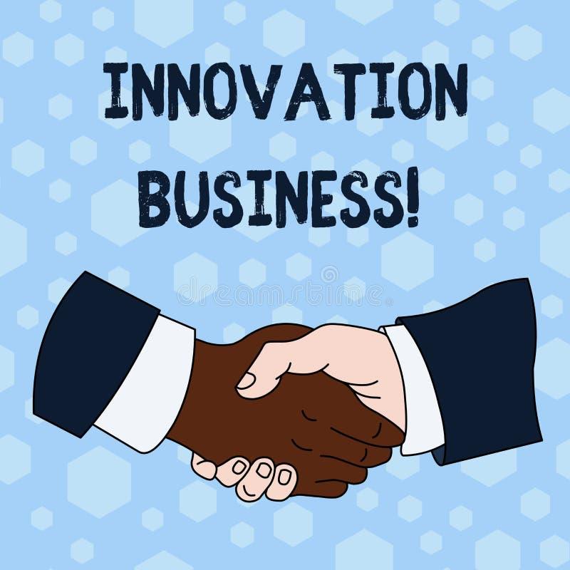Wortschreibenstext Innovations-Gesch?ft Geschäftskonzept für Introduce neue Ideen-Arbeitsfluss-Methodologie-Dienstleistungen über stock abbildung