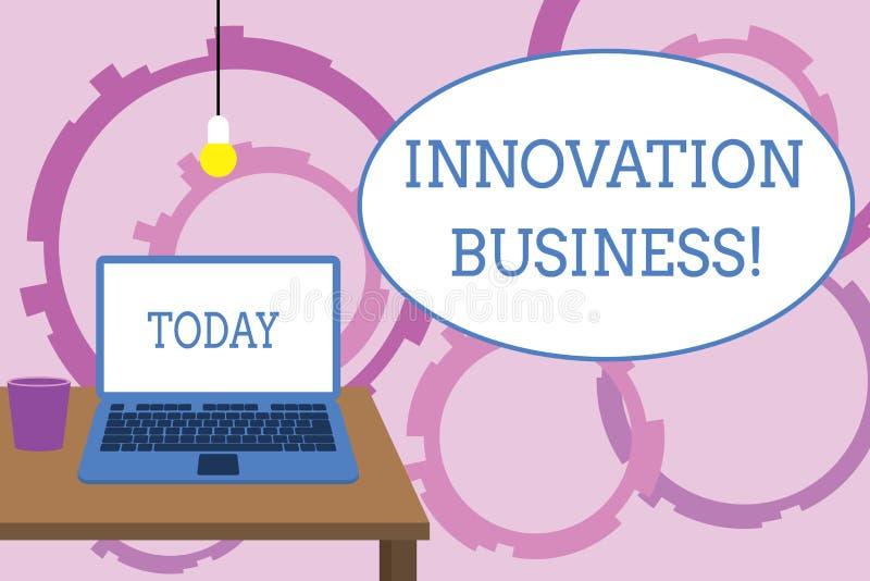 Wortschreibenstext Innovations-Gesch?ft Geschäftskonzept für Introduce neue Ideen-Arbeitsfluss-Methodologie-Dienstleistungen konf vektor abbildung