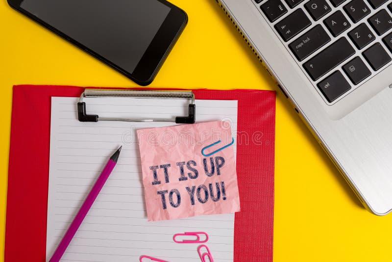 Wortschreibenstext ist es bis zu Ihnen Geschäftskonzept, damit verwendet einem Zeigen sagen, dass sie das sind, zu entscheiden stockbilder