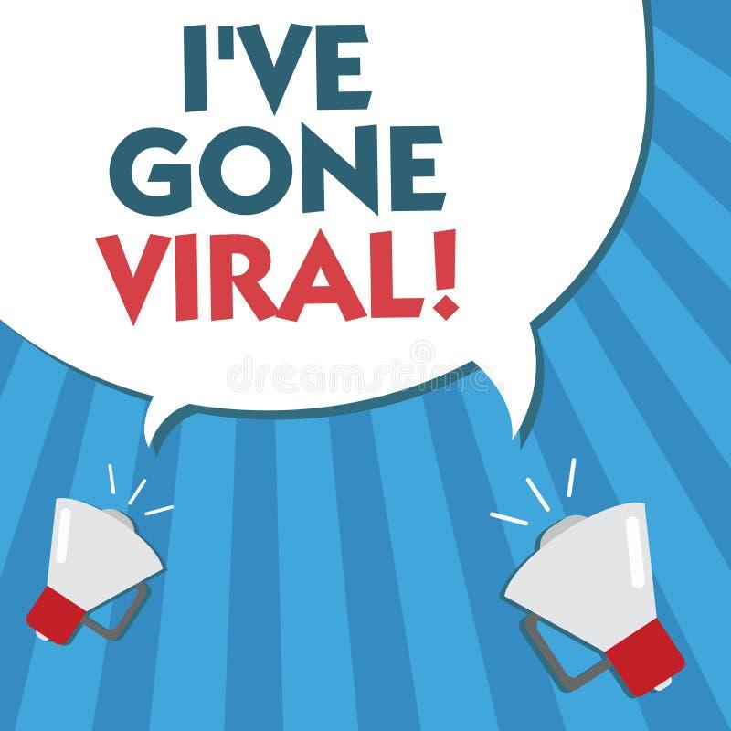 Wortschreibenstext Ive sind Viren gegangen Geschäftskonzept für den medizinischen Begriff verwendet, um kleinen Infektionserreger vektor abbildung
