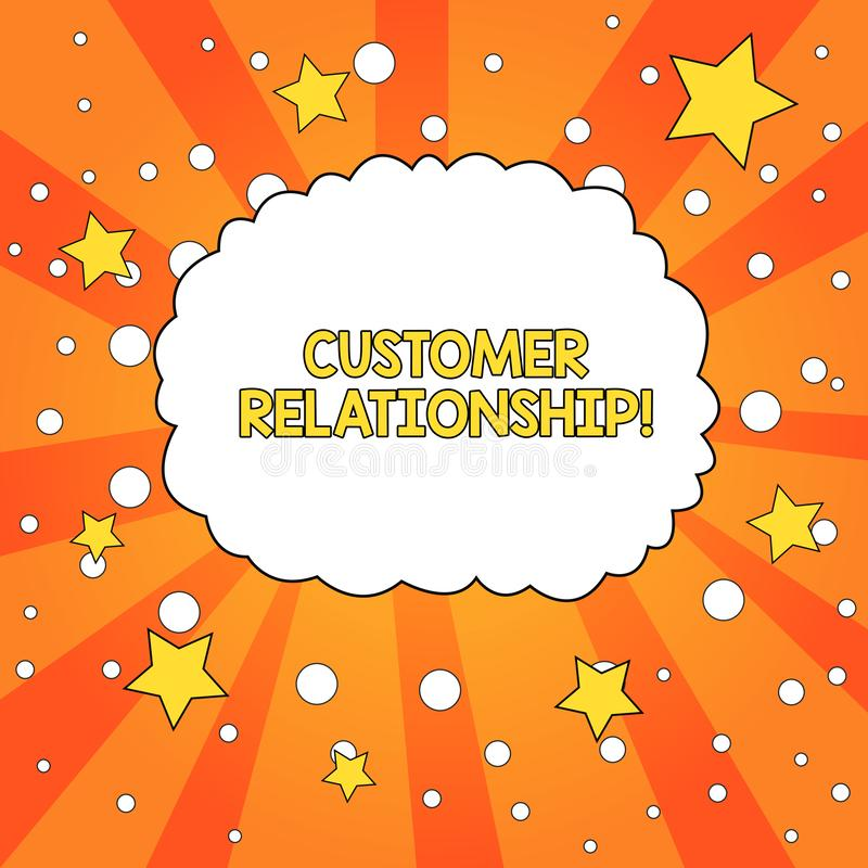 Wortschreibenstext Kunden-Verh?ltnis Geschäftskonzept für Abkommen und Interaktion zwischen Firma und Verbraucher-freiem Raum stock abbildung