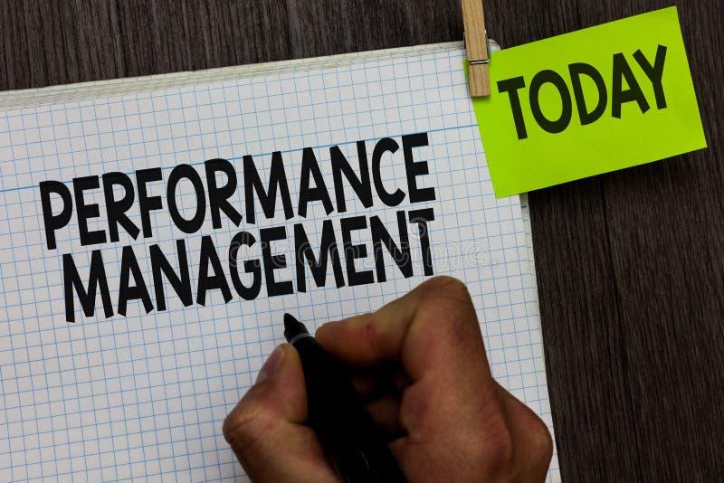 Wortschreibenstext Leistungsüberwachung Geschäftskonzept für Improve Angestellt-Wirksamkeits-Gesamtbeitrag-Mann stockbilder
