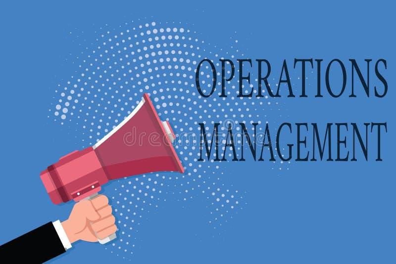 Wortschreibenstext Operations-Management Geschäftskonzept für stellen Input sicher, um die Produktion und die Bestimmung auszugeb lizenzfreie abbildung