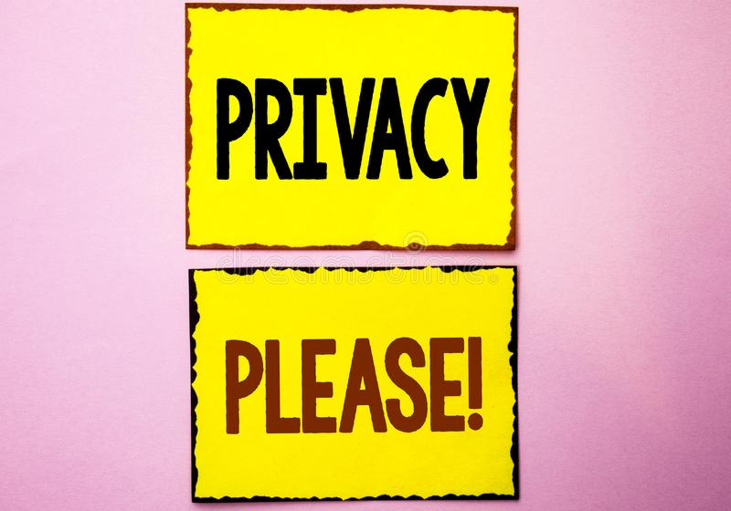 Wortschreibenstext Privatleben-bitte Motivanruf Geschäftskonzept für Let wir ist der ruhige Rest, der tun nicht Disturb geschrieb lizenzfreie stockfotos