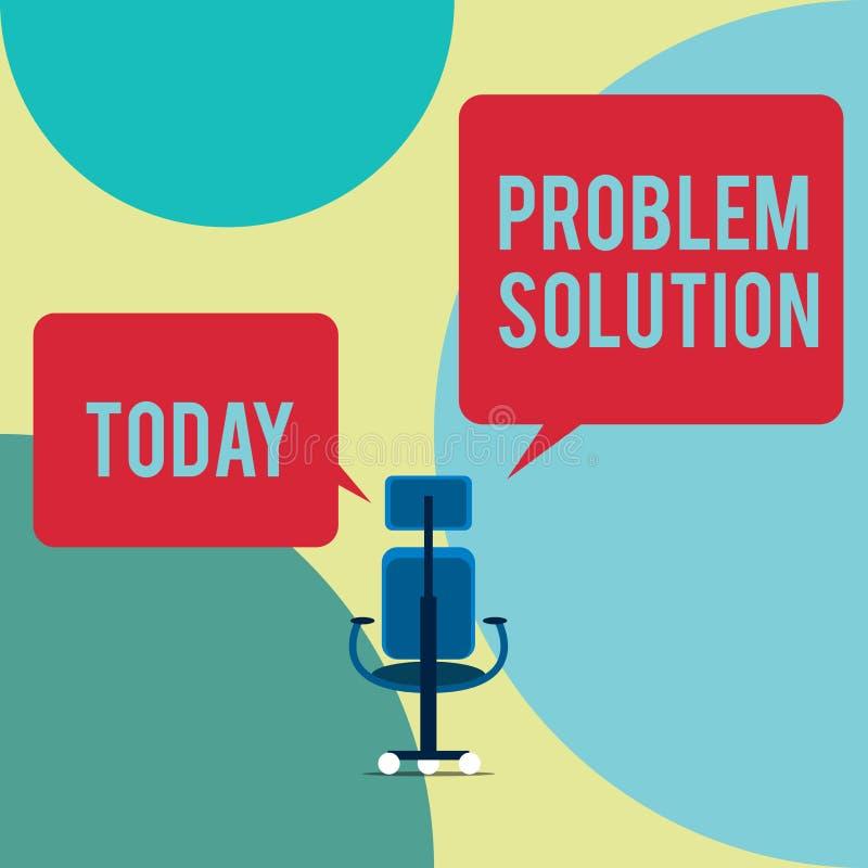 Wortschreibenstext Problem-L?sung Geschäftskonzept für das Lösen besteht, generische Methoden im Pfleger anzuwenden lizenzfreies stockbild