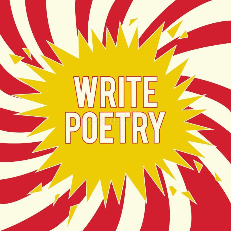 Wortschreibenstext schreiben Poesie Geschäftskonzept für das Schreiben Literatur von roanalysistic schwermütigen Ideen mit Reim stock abbildung