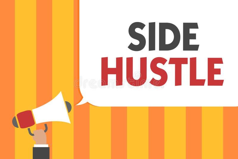 Wortschreibenstext Seiten-Gedränge Geschäftskonzept für Weise machen etwas Extrabargeld, das Ihnen Flexibilität zugesteht, den Ma stock abbildung